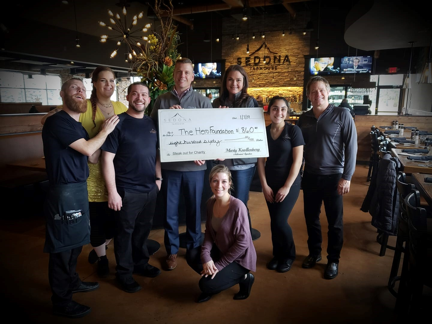 Sedona Taphouse donates to Hero Foundation